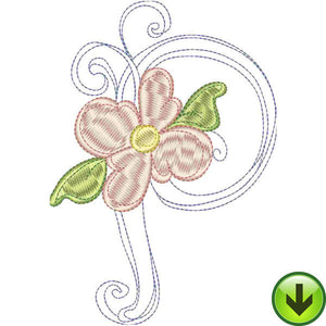 P Upper Case Embroidery Design | DOWNLOAD