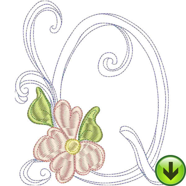 Q Upper Case Embroidery Design | DOWNLOAD