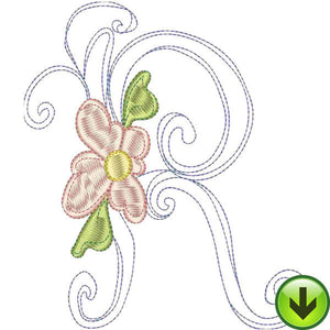 R Upper Case Embroidery Design | DOWNLOAD