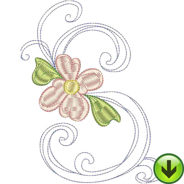 S Upper Case Embroidery Design | DOWNLOAD