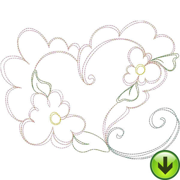 Lazy Love Heart A Embroidery Design | DOWNLOAD
