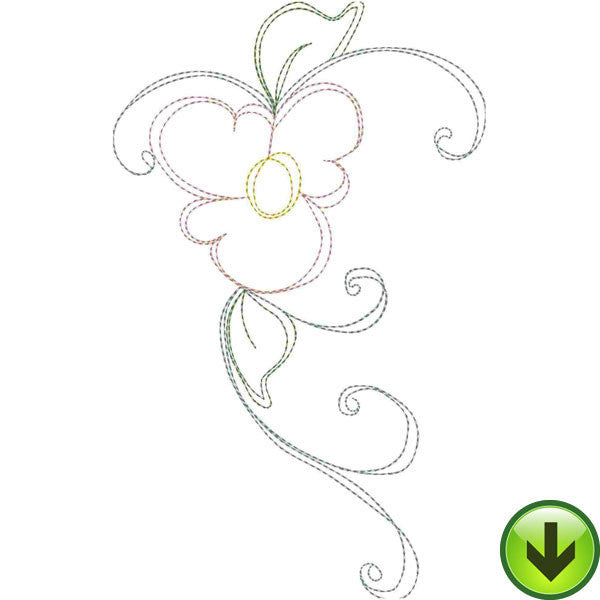 Lazy Love Heart B Embroidery Design | DOWNLOAD