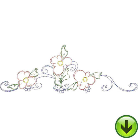TriDaisy Crown Embroidery Design | DOWNLOAD