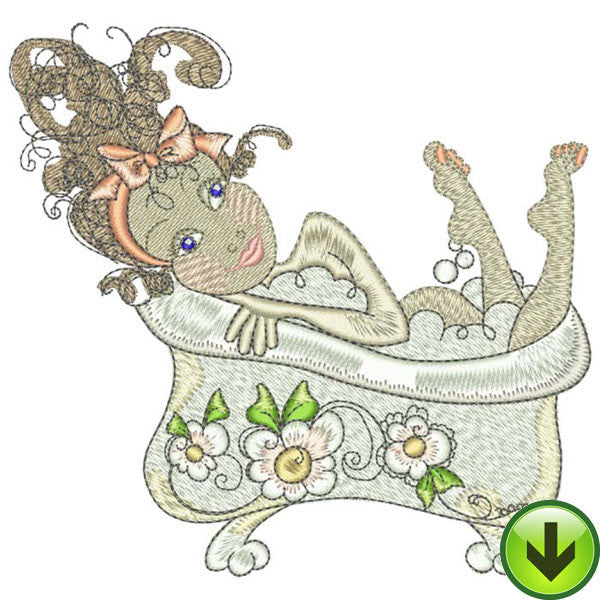 Dreamy Tub Embroidery Design | DOWNLOAD