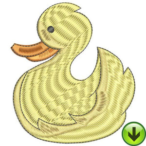 Rubber Duckie Embroidery Design | DOWNLOAD