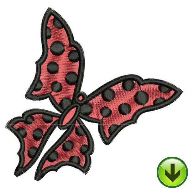 Dot Wings Embroidery Design | DOWNLOAD