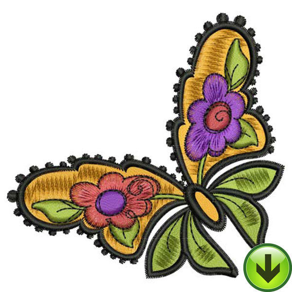 Flower Flight Embroidery Design | DOWNLOAD