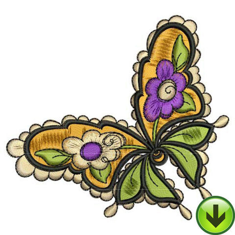 Flutter Fleur Embroidery Design | DOWNLOAD