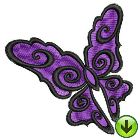 Scroll Flutter Embroidery Design | DOWNLOAD