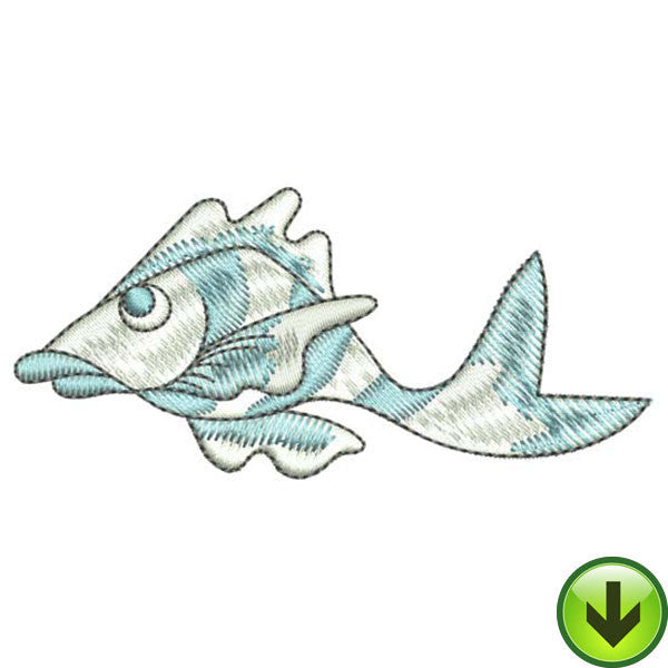 Disgusted Fish Embroidery Design | DOWNLOAD