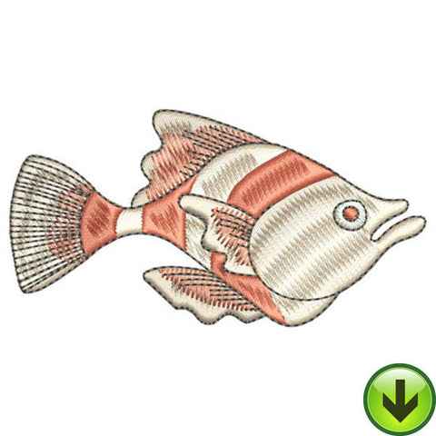 Flamingo Fish Embroidery Design | DOWNLOAD