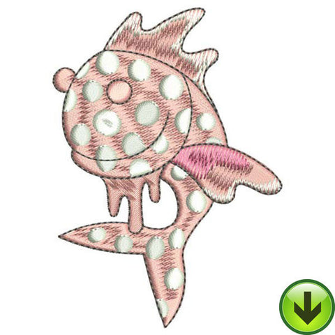 Happy Dot Fish Embroidery Design | DOWNLOAD
