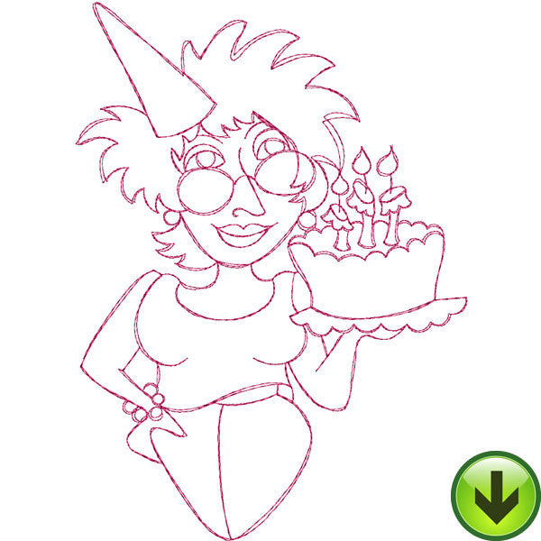 Birthday Girl Embroidery Design | DOWNLOAD