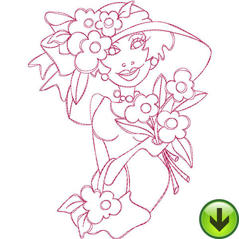 Daisies for You Embroidery Design | DOWNLOAD