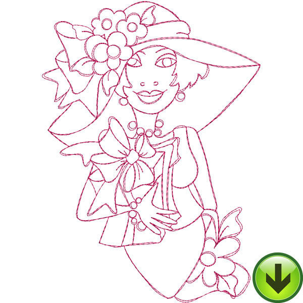 Party Girl Embroidery Design | DOWNLOAD