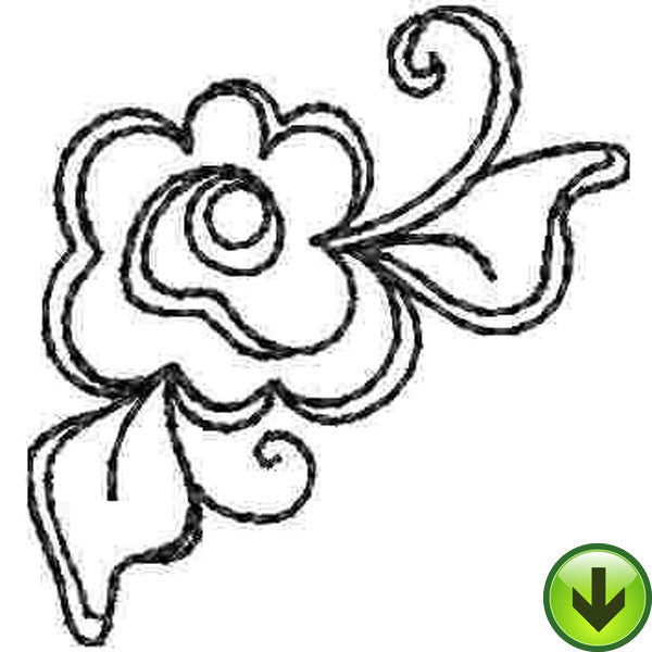 Lady with Flowers D Embroidery Design | DOWNLOAD