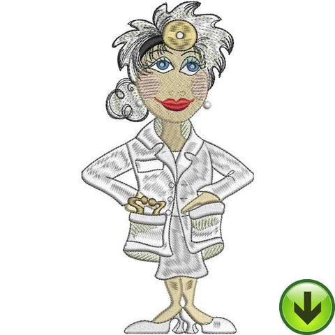 Lady Doctor Embroidery Design | DOWNLOAD