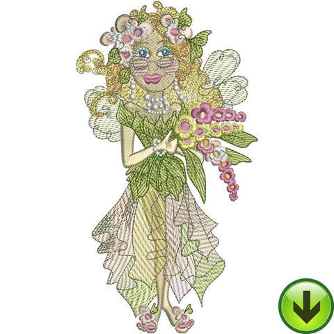 Hya Cynthia Fairy Embroidery Design | DOWNLOAD