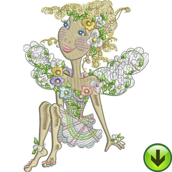 Plaid Fairy Embroidery Design | DOWNLOAD