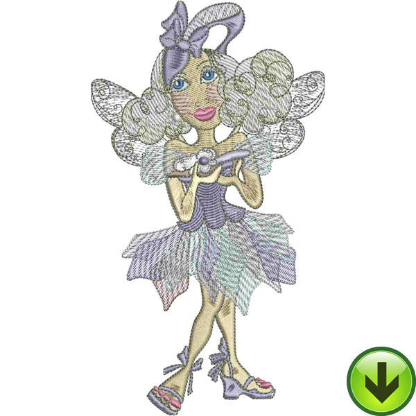 Shoe Fairy Embroidery Design | DOWNLOAD