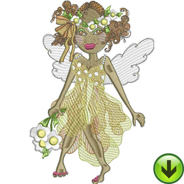 Sunshine Fairy Embroidery Design | DOWNLOAD