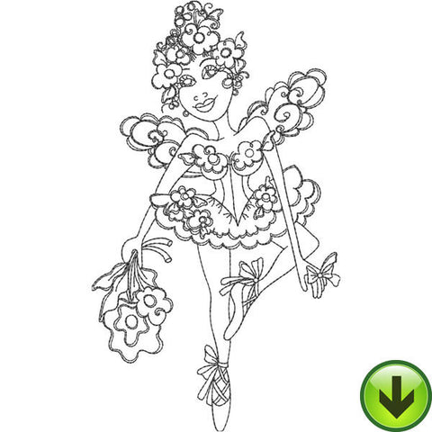 Ballerina Fairy Embroidery Design | DOWNLOAD