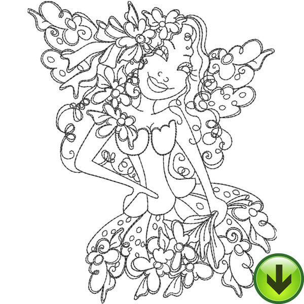 Daisy Fairy Embroidery Design | DOWNLOAD