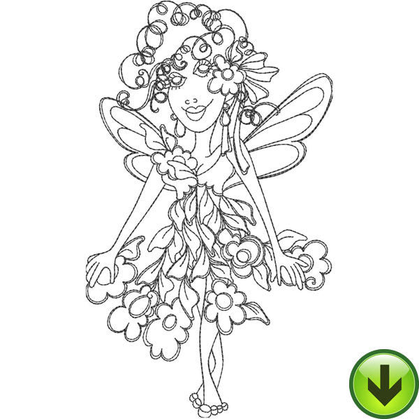 Floral Fairy Embroidery Design | DOWNLOAD