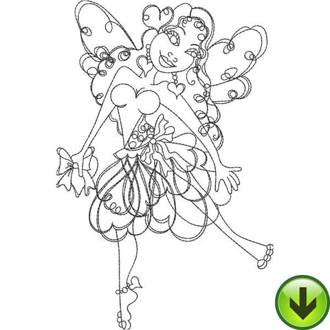 Heart Fairy Embroidery Design | DOWNLOAD