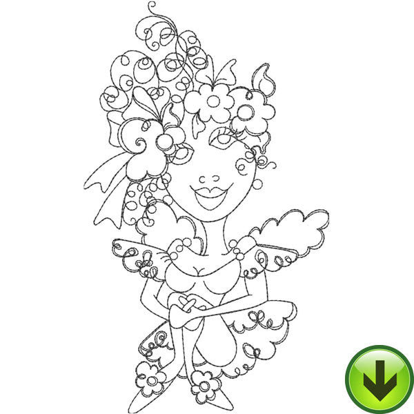 Sweet Fairy Embroidery Design | DOWNLOAD