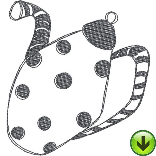 Stripe Dot Pot Fill Embroidery Design | DOWNLOAD