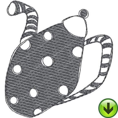 Stripe Dot Pot Fill 2 Embroidery Design | DOWNLOAD