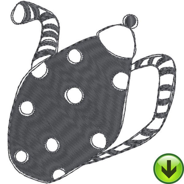 Stripe Dot Pot Fill 2 Full Embroidery Design | DOWNLOAD