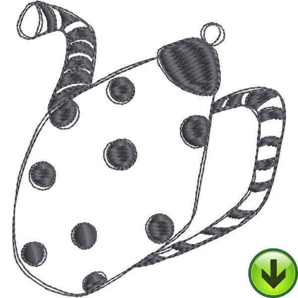Stripe Dot Pot Fill Full Embroidery Design | DOWNLOAD