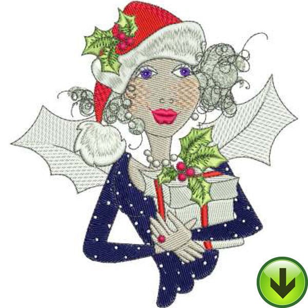 Fairy Bearing Gifts Embroidery Design | DOWNLOAD
