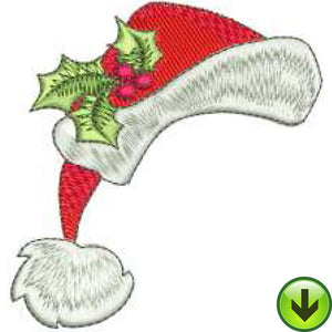 Santa Hat Embroidery Design | DOWNLOAD