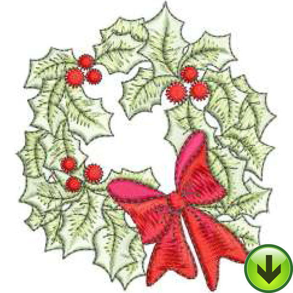 Wreath Embroidery Design | DOWNLOAD