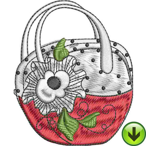 Bag Frilly Flower Embroidery Design | DOWNLOAD