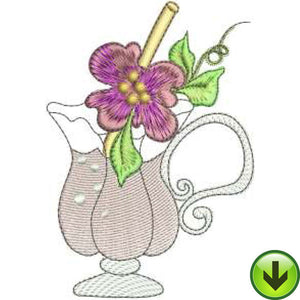 Hibiscus Sippie Embroidery Design | DOWNLOAD