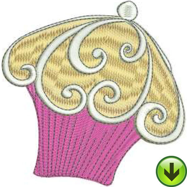 Scroll Cake Embroidery Design | DOWNLOAD