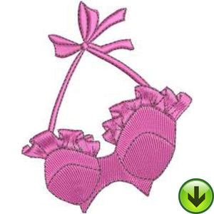Ruffle Bra Embroidery Design | DOWNLOAD