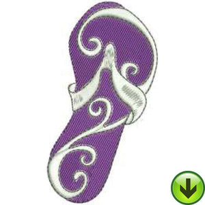 Scroll Flop Embroidery Design | DOWNLOAD