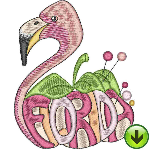 Sew Flam Embroidery Design | DOWNLOAD