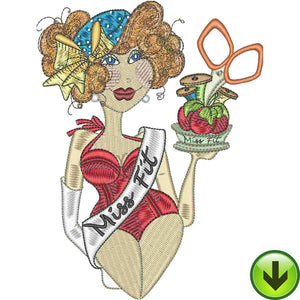 Miss Fit Embroidery Design | DOWNLOAD