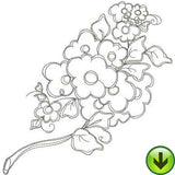 Frilly Flowers 1 Machine Embroidery Collection | Download