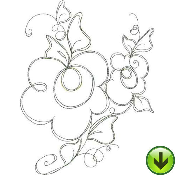 Frilly Flowers 1 Embroidery Machine Design Collection