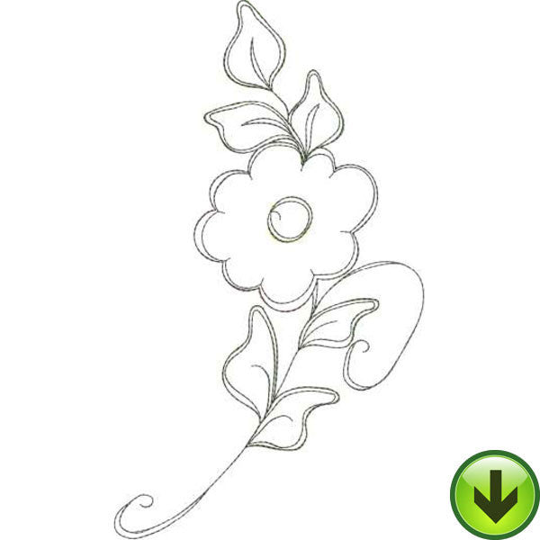 Frilly Flowers 1 Embroidery Machine Design Collection | Download