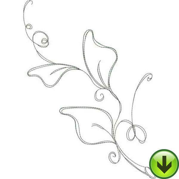 Tendril 2 Embroidery Design | DOWNLOAD