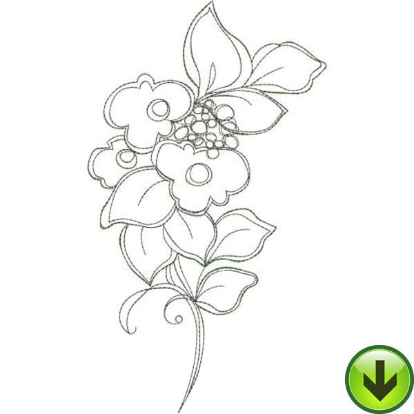 Frilly Flowers 2 Embroidery Machine Design Collection | Download