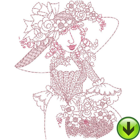 Madame Anemone Embroidery Design | DOWNLOAD